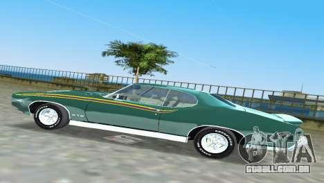 Pontiac GTO The Judge 1969 para GTA Vice City vista interior