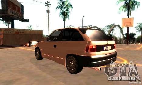 Opel Astra 1993 para GTA San Andreas traseira esquerda vista