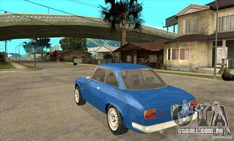 Alfa Romeo Giulia GTA para GTA San Andreas traseira esquerda vista