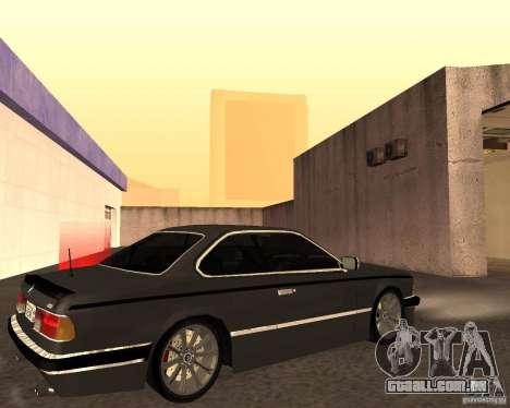 BMW M6 E24 para GTA San Andreas vista interior