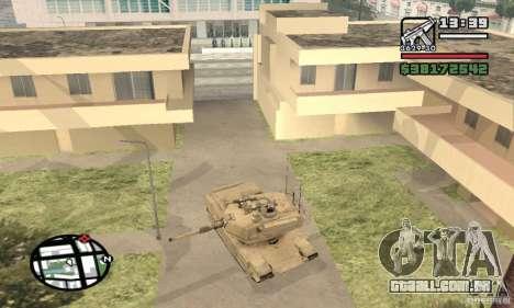 M1A2 Abrams TUSK para GTA San Andreas vista direita