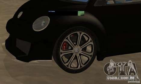 Volkswagen Bettle Tuning para GTA San Andreas vista traseira