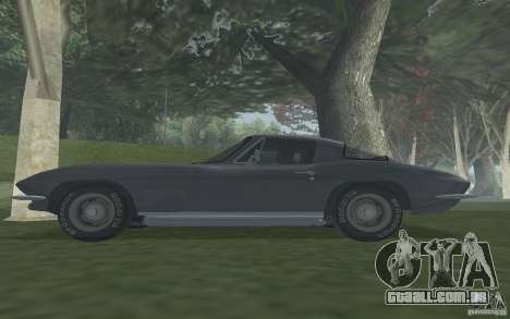 Chevrolet Corvette 427 para GTA San Andreas vista direita