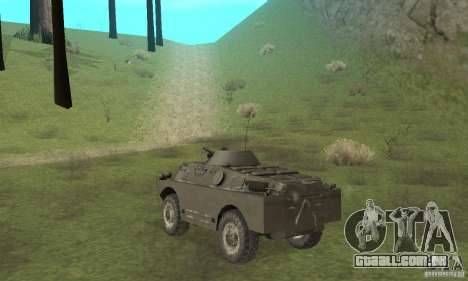 Versão de inverno BRDM-2 para GTA San Andreas vista direita