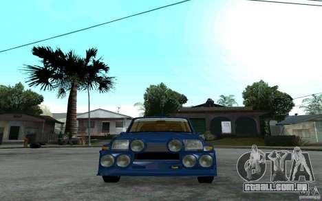 Renault 5 Maxi Turbo para GTA San Andreas vista direita