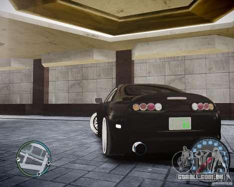 TOYOTA JZA80 SUPRA para GTA 4 traseira esquerda vista