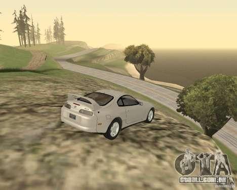 Toyota Supra 3.0 24V para GTA San Andreas traseira esquerda vista
