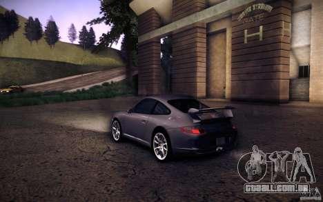 Porsche 911 GT3 (997) 2007 para GTA San Andreas esquerda vista