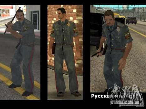 SkinPack substitui PD, exército e uma pele do FB para GTA San Andreas terceira tela