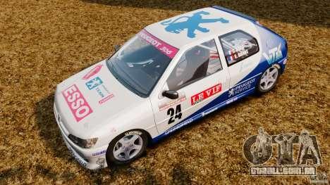 Peugeot 306 Gr. N Rally para GTA 4 traseira esquerda vista