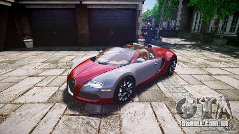 Bugatti Veyron Grand Sport [EPM] 2009 para GTA 4 vista direita