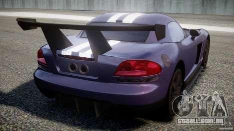 Dodge Viper RT 10 Need for Speed:Shift Tuning para GTA 4 traseira esquerda vista
