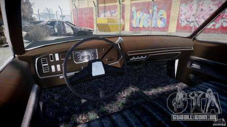 Dodge Monaco 1974 (bluesmobile) para GTA 4 vista de volta