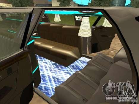 Cadillac DTS 2008 Limousine para GTA San Andreas traseira esquerda vista