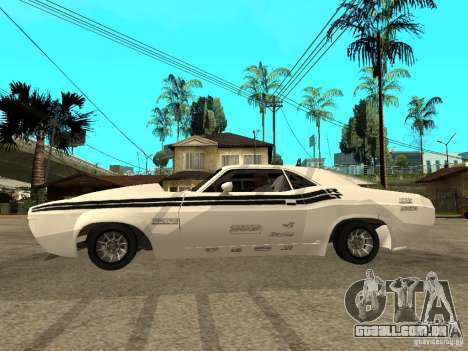 Dodge Challenger Speed 1971 para GTA San Andreas esquerda vista