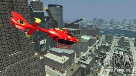 Medicopter 117 para GTA 4 vista direita