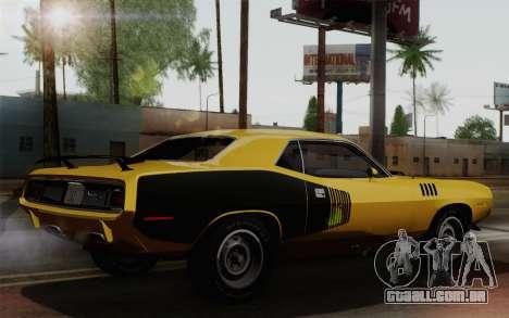 Plymouth Hemi Cuda 426 1971 para GTA San Andreas vista direita