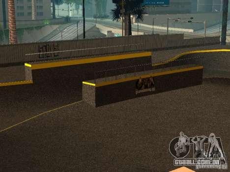 New SkatePark para GTA San Andreas por diante tela
