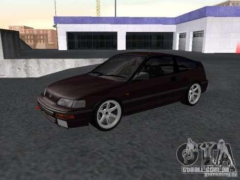 Honda Civic CRX JDM para GTA San Andreas esquerda vista
