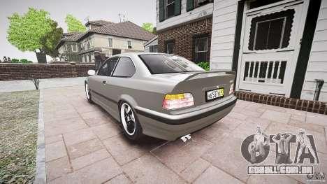BMW E36 328i v2.0 para GTA 4 traseira esquerda vista