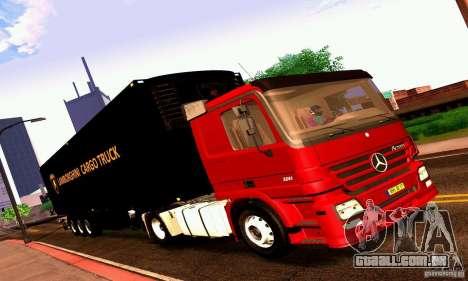 Lamborghini Cargo Truck para GTA San Andreas traseira esquerda vista