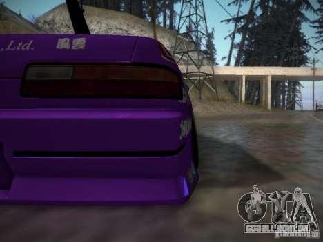 Nissan Silvia S13 Team Burst para GTA San Andreas vista interior