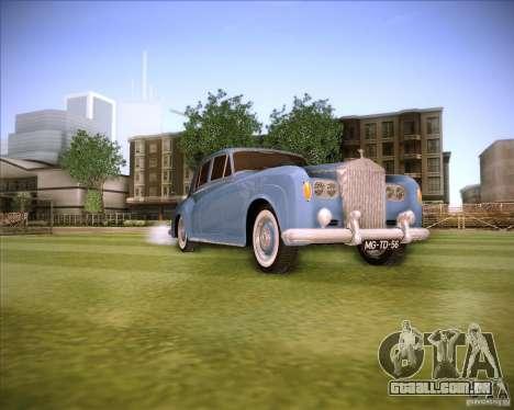 Rolls Royce Silver Cloud III para GTA San Andreas vista direita