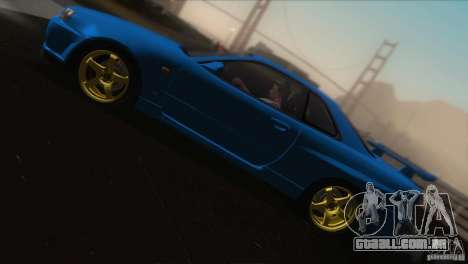 Nissan Skyline GTR-34 para GTA San Andreas vista inferior