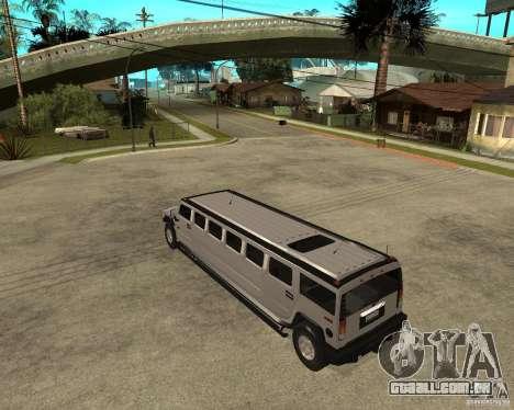 AMG H2 HUMMER 4x4 Limusine para GTA San Andreas esquerda vista