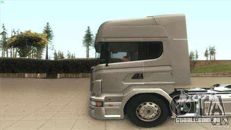 Scania V8 para GTA San Andreas esquerda vista