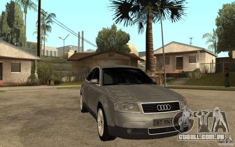 Audi A6 3.0i 1999 para GTA San Andreas vista traseira