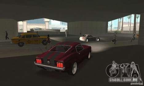 Ford Mustang 1968 para GTA San Andreas esquerda vista