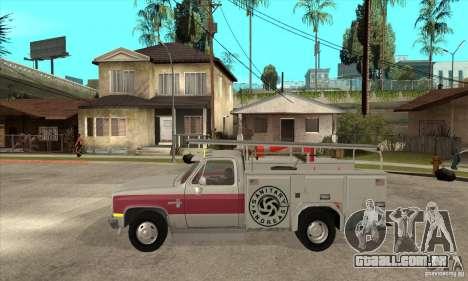 Chevrolet Silverado - utility para GTA San Andreas esquerda vista