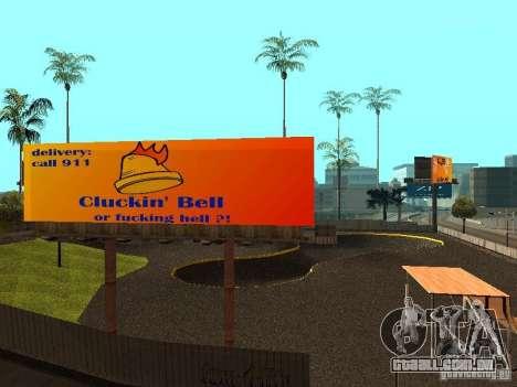 New SkatePark para GTA San Andreas sexta tela