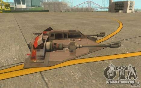 T-47 Snowspeeder para GTA San Andreas vista inferior
