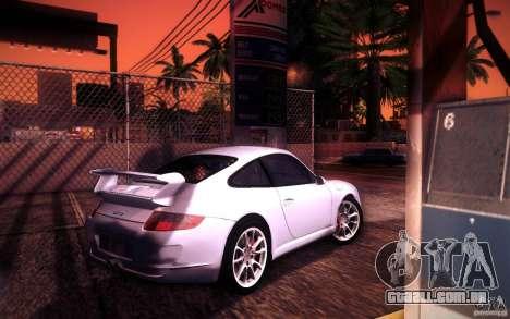Porsche 911 GT3 (997) 2007 para GTA San Andreas vista superior