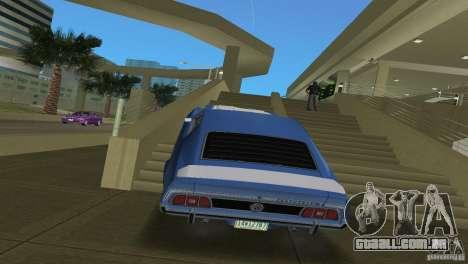 Ford Mustang 1973 para GTA Vice City vista direita