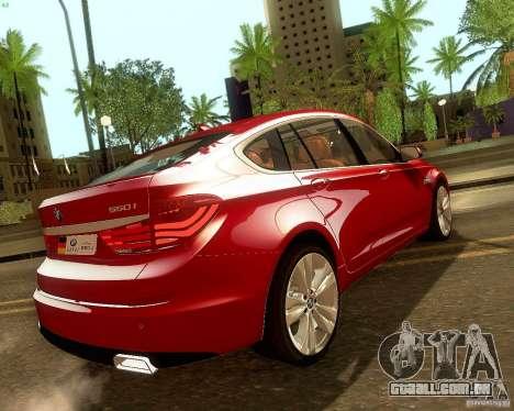 BMW 550i GranTurismo 2009 V1.0 para GTA San Andreas vista superior