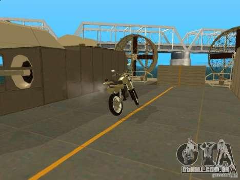 Čezet da motocicleta para GTA San Andreas vista direita