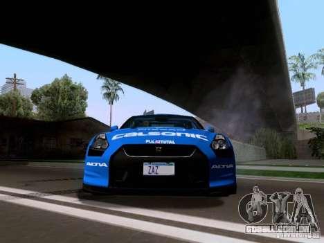 Nissan GTR 2010 Spec-V para GTA San Andreas vista traseira