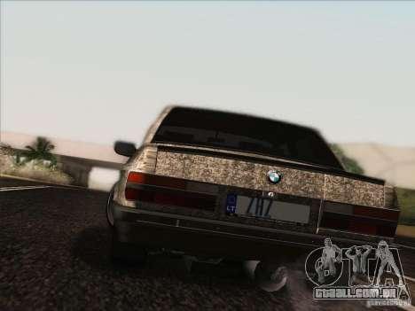 BMW E28 525E RatStyle para GTA San Andreas vista interior