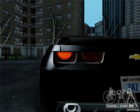 Chevrolet Camaro 2007 para GTA San Andreas vista inferior