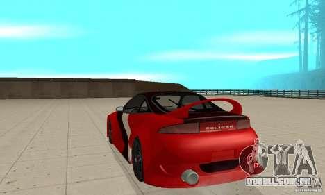 Mitsubishi Eclipse - Tuning para GTA San Andreas traseira esquerda vista