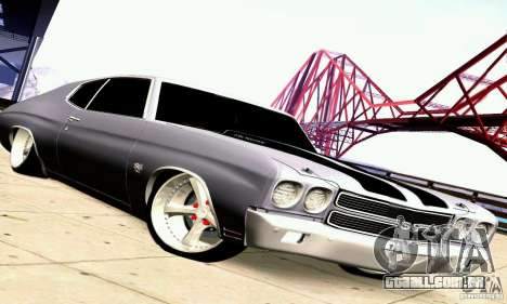 Chevrolet Chevelle 1970 para as rodas de GTA San Andreas