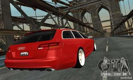 Audi A6 Avant Stanced para GTA San Andreas esquerda vista