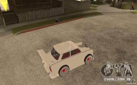 Trabant 601 Hardcore Tuning para GTA San Andreas vista direita