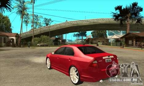 Ford Fusion Hybrid para GTA San Andreas traseira esquerda vista