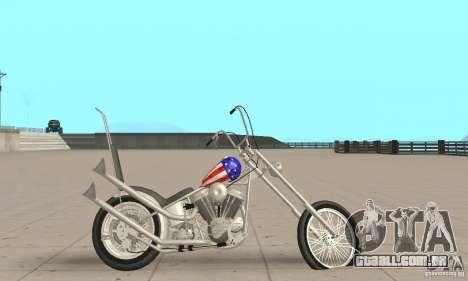 Captain America Chopper para GTA San Andreas traseira esquerda vista
