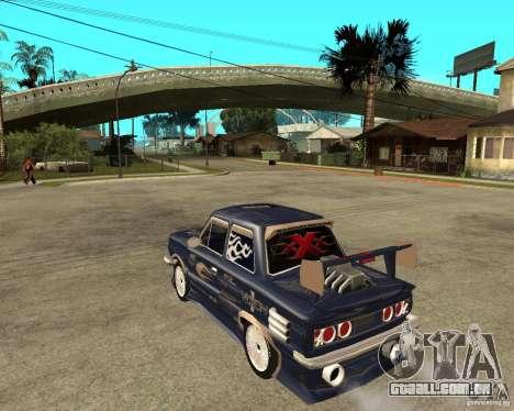 ZAZ-968 m rua tune para GTA San Andreas esquerda vista