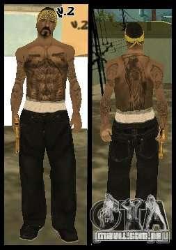 Vagos Gang Skins para GTA San Andreas décimo tela